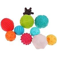 Kesoto 赤ちゃん 子供 カラーボール ベビー おもちゃボール 凹凸 握って学ぼう 10個セット