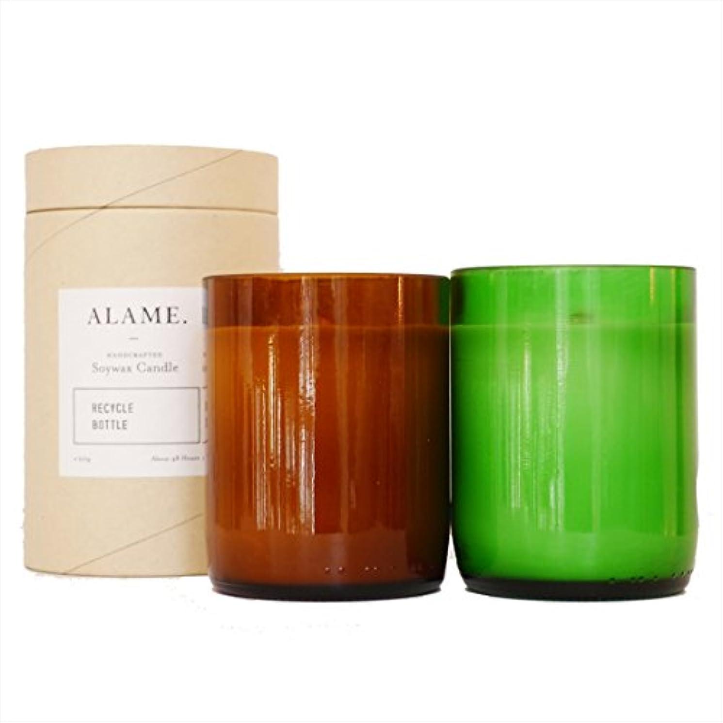 バンカーチョコレート絶え間ないALAME(アラメ) ソイワックスキャンドル オリーブ