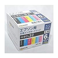 -まとめ-ワールドビジネスサプライ・-Luna・Life-・エプソン用・互換インクカートリッジ・IC6CL32・6本パック・LN・EP32/6P-×3セット-
