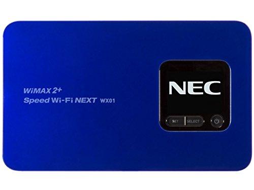 Speed Wi-Fi NEXT WiMAX 2+ WX01 ディープブルー NAD31SLU