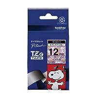 ブラザー工業 TZeテープ スヌーピーテープ(スヌーピーピンク/黒字) 12mm TZe-UP31