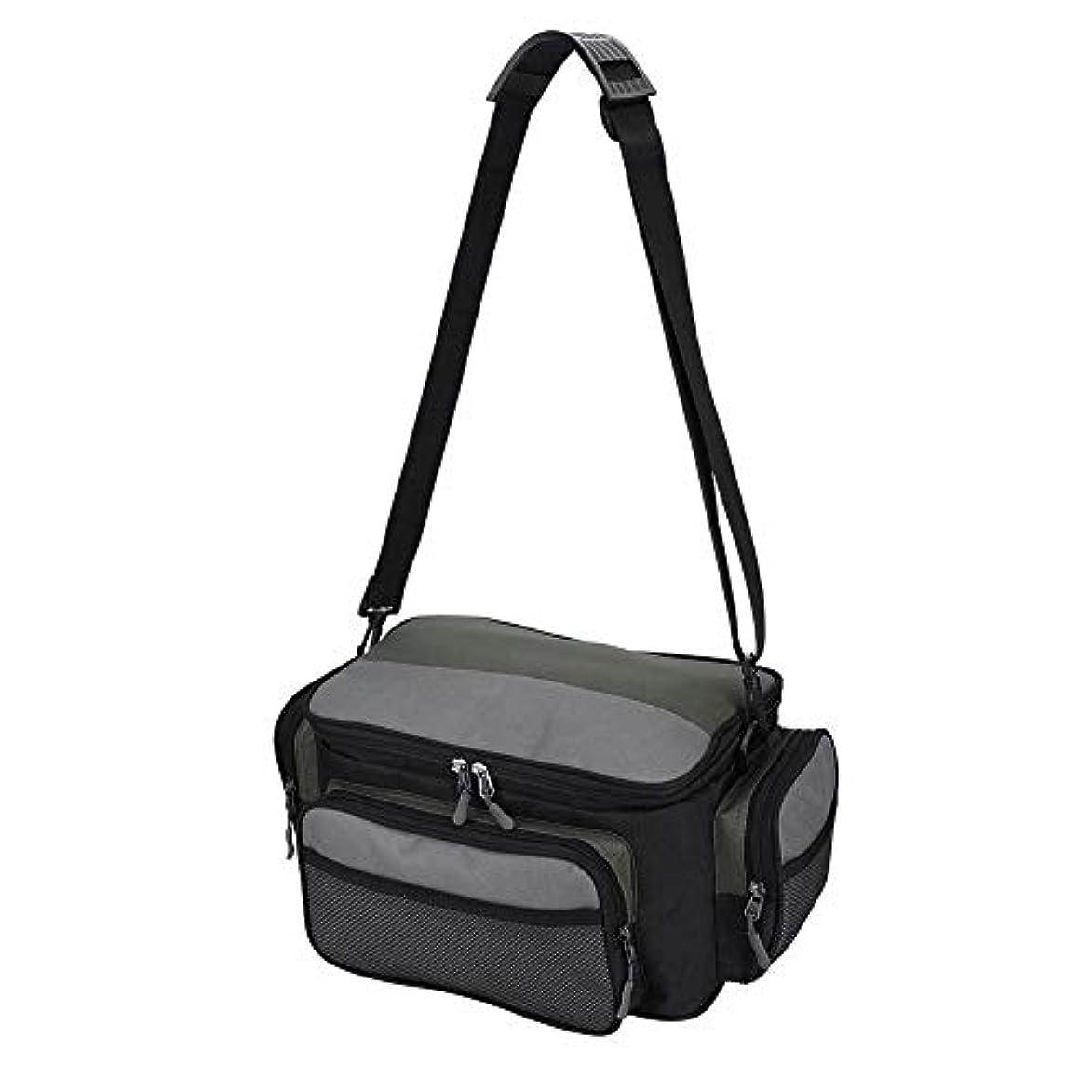 矩形ドラゴン器用釣りバッグ フィッシングタックルバッグ 袋 ケース 大容量 複数のポケット ショルダーストラップ 調節可能 多機能 防塵通気 ルアー/リールなどに対応
