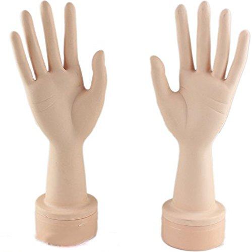 Dreambeauty マネキンハンド 練習マニキュアネイルハンドネイルアートトレーニング実践のための柔軟な曲がるマネキンハンド表示ツール (手のペア)