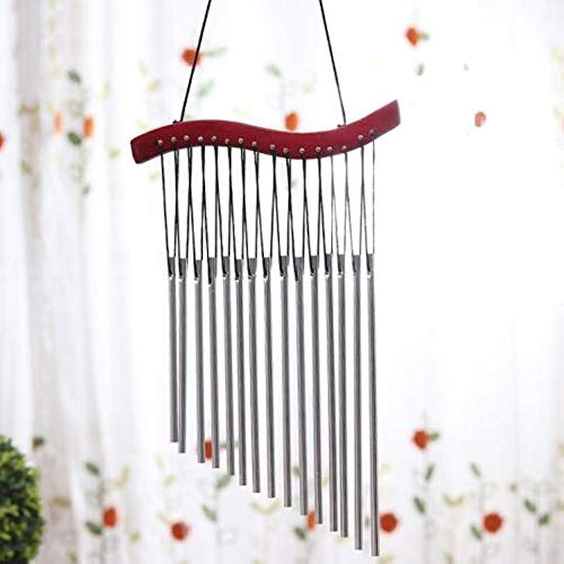 競争力のある落胆する意図するHongyuantongxun 風チャイム、木製メタルクリエイティブ風の鐘、赤、全身について45CM,、装飾品ペンダント (Color : D)