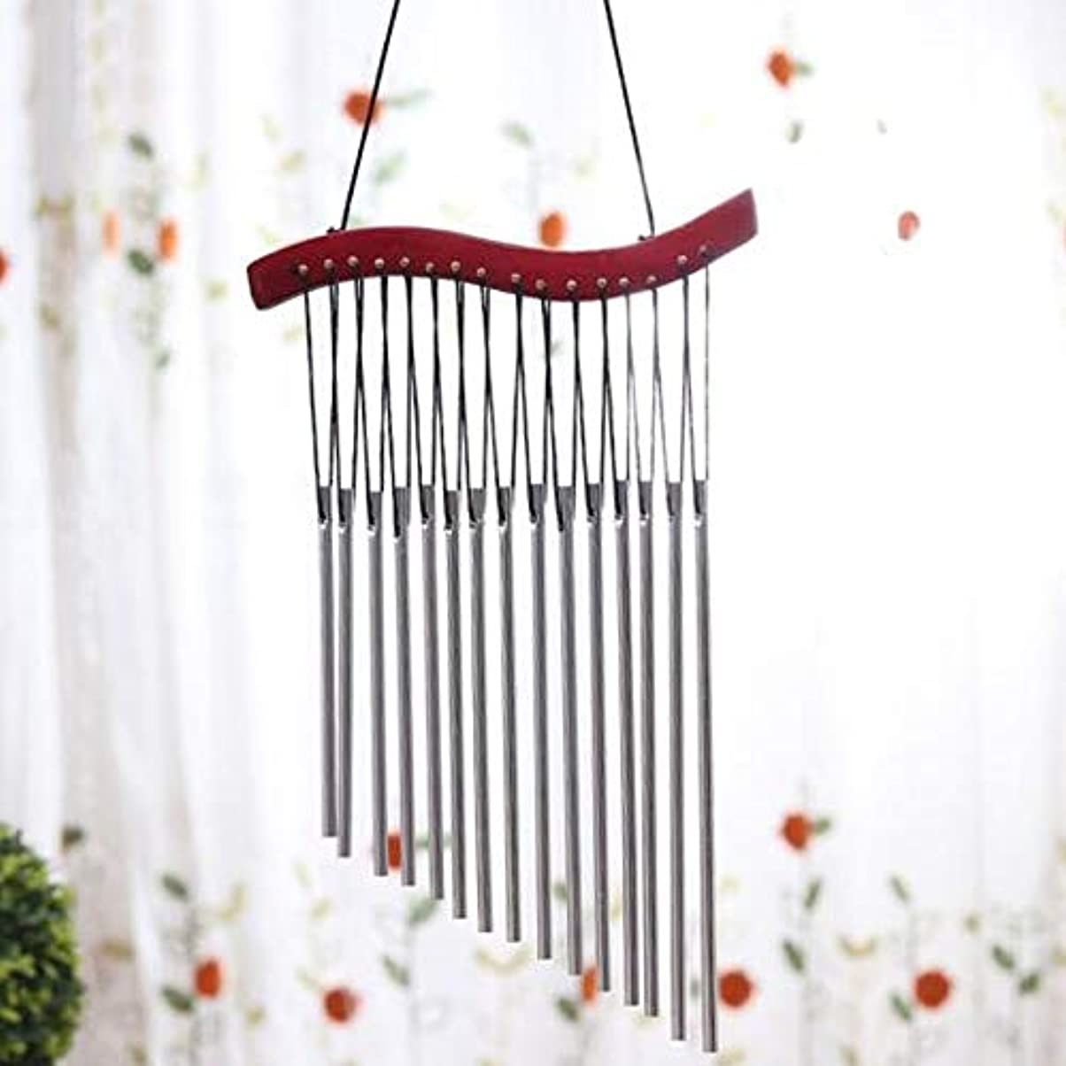 叫ぶベンチ効果的Fengshangshanghang 風チャイム、木製メタルクリエイティブ風の鐘、赤、全身について45CM,家の装飾 (Color : D)