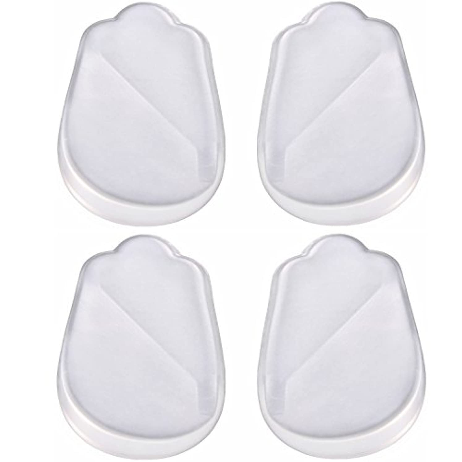 非効率的な原点永続X脚 O脚 用 かかと シリコン ゲル 素材 透明 クリアー インソール 靴 中敷 4枚 2足分 セット! 補正 シリコンパッドを 靴に 入れて 履くだけ? 高 衝撃 吸収力 耐久