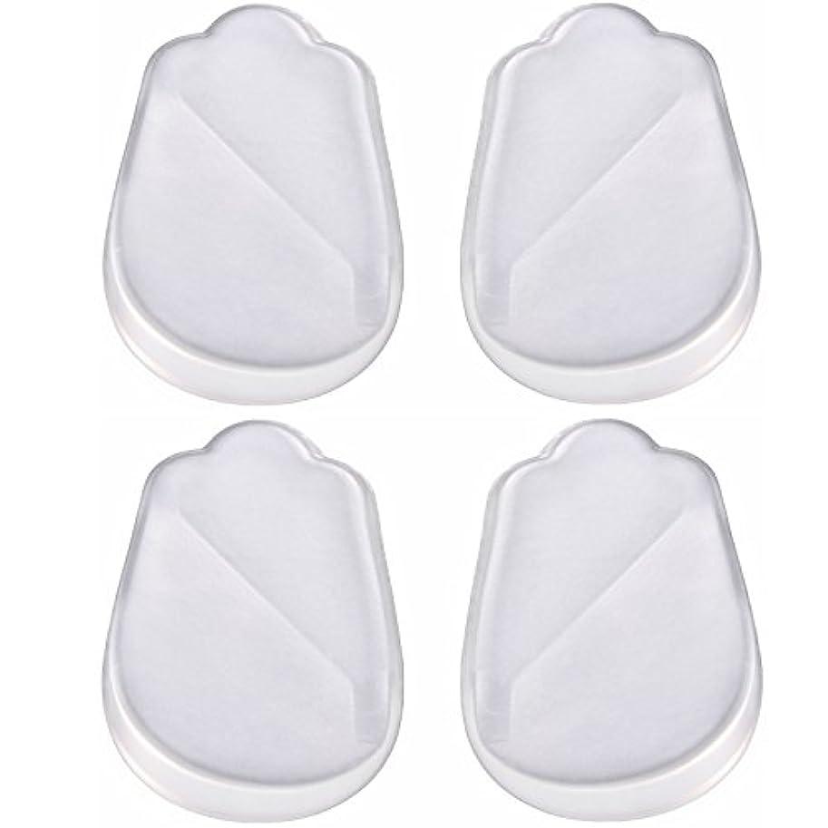 シャンパンコールド構造的X脚 O脚 用 かかと シリコン ゲル素材透明 クリアー インソール 靴 中敷 4枚 2足分 セット! 補正 シリコンパッドを 靴に 入れて 履くだけ? 高 衝撃 吸収力 耐久 (レディース)