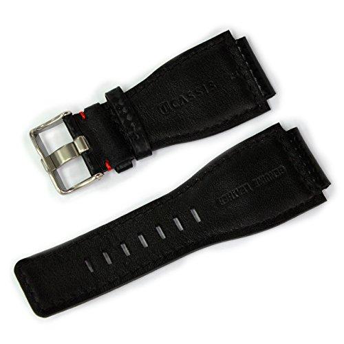 CASSIS[カシス]ベル&ロス用時計バンド TYPE BAR 24mm ブラックxレッド 交換用工具付き UBBAR001883024