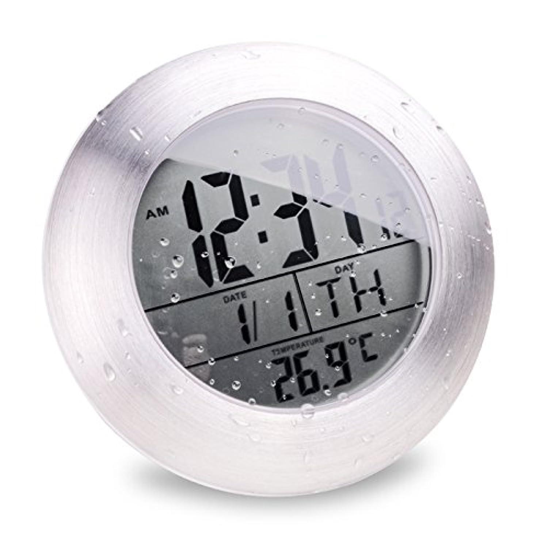 お風呂クロック シャワークロック 半身浴 お風呂の防滴時計 デジタル時計 防滴液晶時計 バスルーム スタイリッシュ ◇M0004S