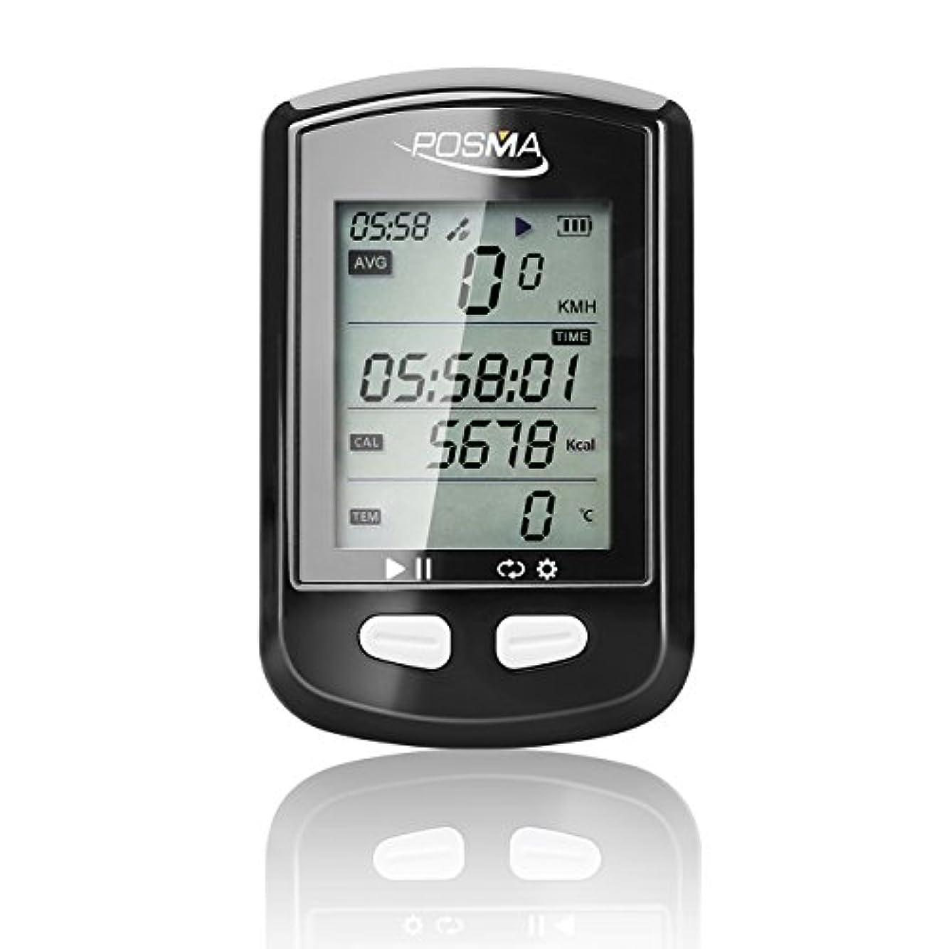 キャロラインむしゃむしゃ初期POSMA DB2 Bluetooth GPS サイクリング バイクコンピューター、速度計、オドメーター(積算距離計)、高度計、 カロリーメーター、温度計、ルートトラッキング機能、ANT+ がサポートするSTRAVAとMapMyRide、BLE4.0 スマートフォン接続、iPhonとアンドロイドアプリ (オプションでBHR20 心拍計およびBCB20スピード/ケイデンスセンサー組み合わせ選択可能)