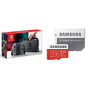 Nintendo Switch Joy-Con (L) / (R) グレー + Samsung microSDXCカード 256GB セット