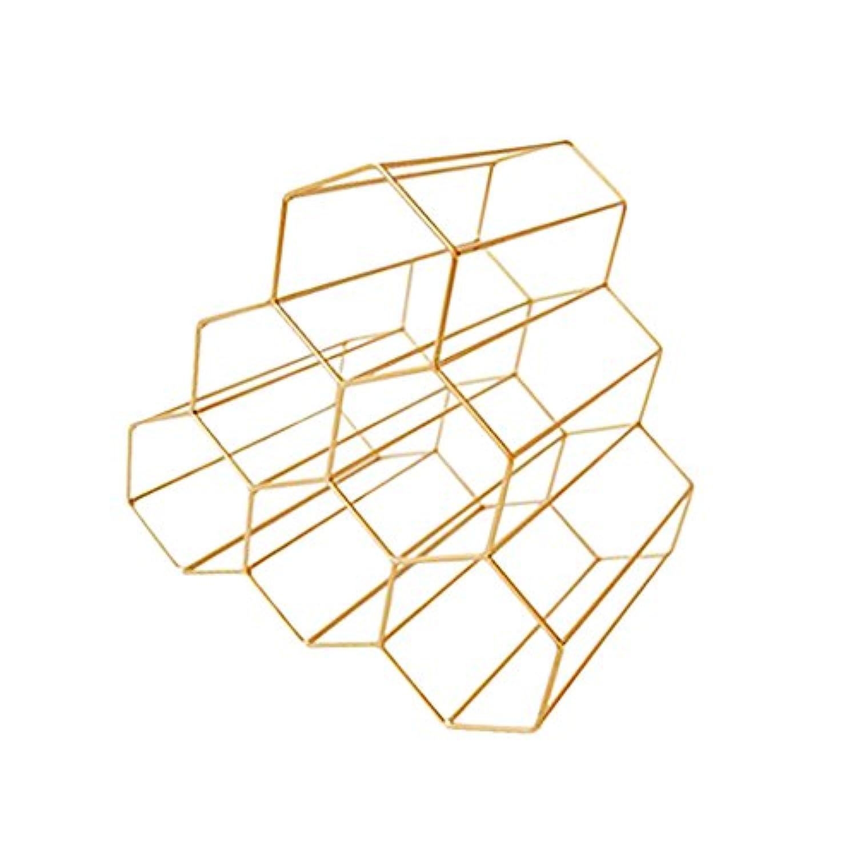SM SunniMix キッチン バー シンプル 簡単 ワインラック 収納ホルダー 3色選択 - フランスゴールド