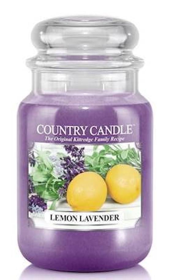 地球忠実な十分レモンラベンダーCountry Candle Large 23oz 2-wick香りつきJar Candle