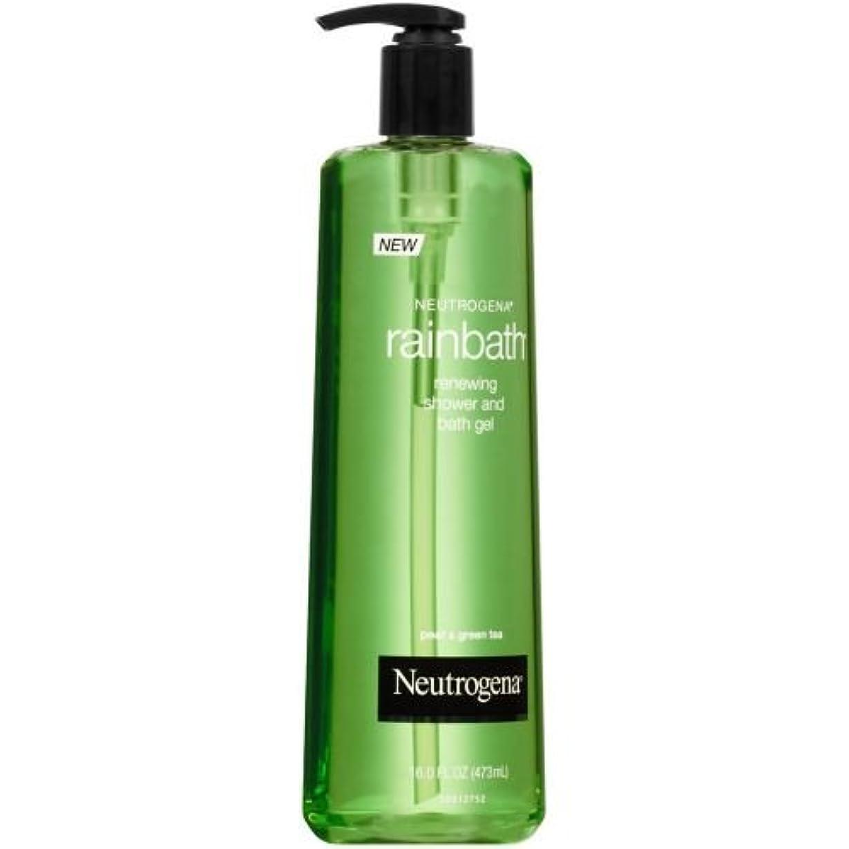 一晩恩赦矢Neutrogena Rainbath梨グリーンティーリニューイングシャワーバスジェル、16液量オンス - ケースあたり12。