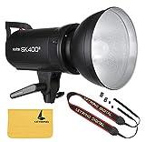 Godox SK400II 400W スタジオ フラッシュ ストロボ ライト 内蔵 Godox Xシステム GN65 5600K Andoerクリニングクロス&150W モデリングランプ付き ポートレート ライフスタイル写真用