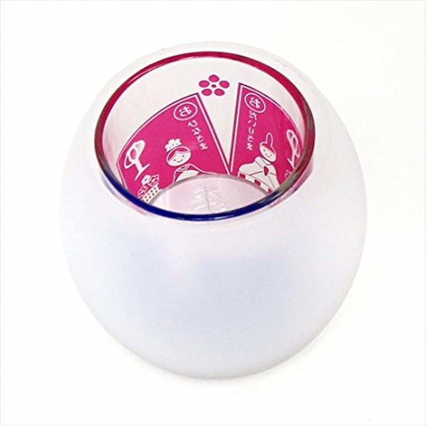 暖かく陰気炭素カメヤマキャンドル( kameyama candle ) 節句シルエットグラス