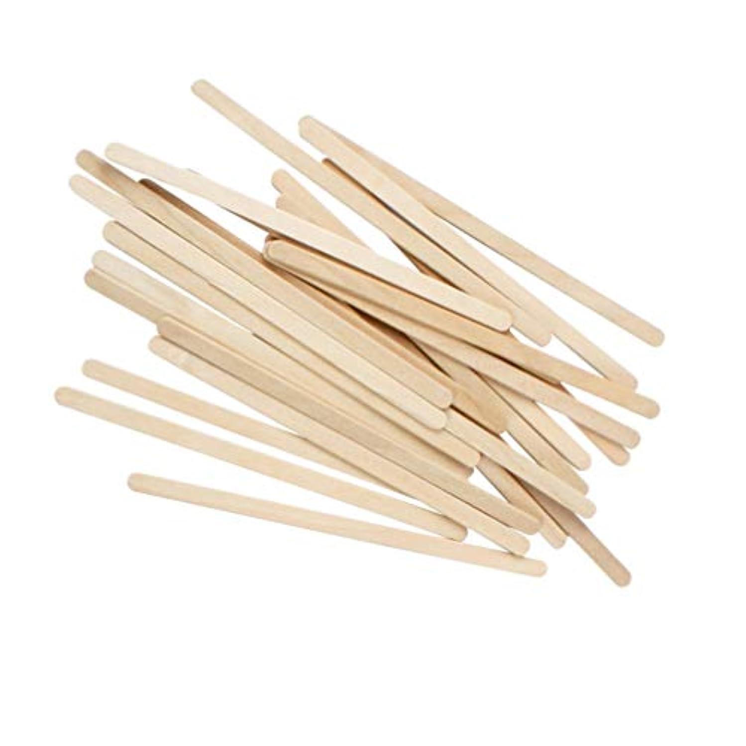 劇的負供給Healifty 100ピース木製ワックススティック木製ワックスヘラ脱毛眉ワックスアプリケータースティック