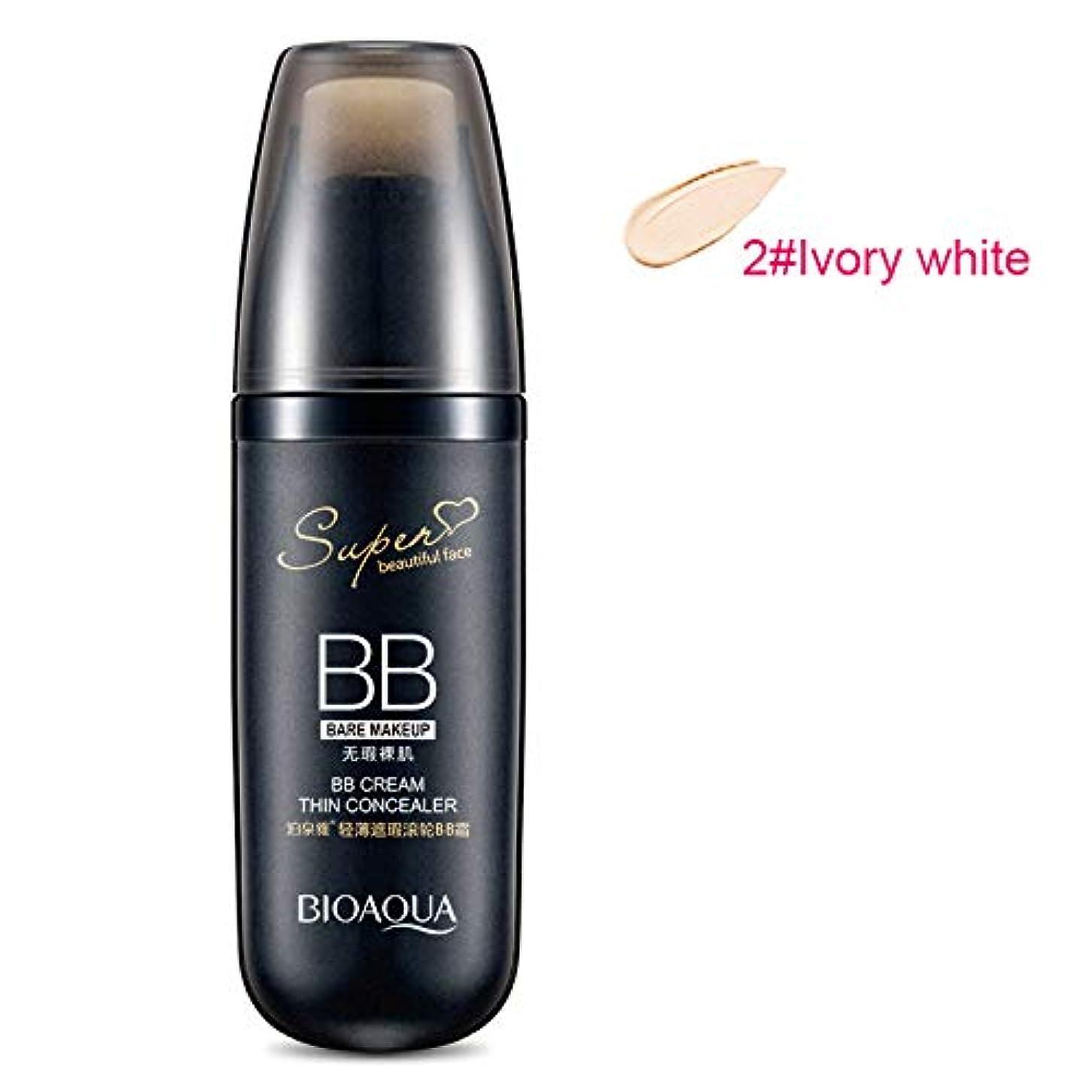 Symboat スクロール 液体 BBクリーム ファンデーション メイク コンシーラー 保湿 化粧品 フェイシャル ファンデーション 明るい肌色 自然な肌色 素肌感