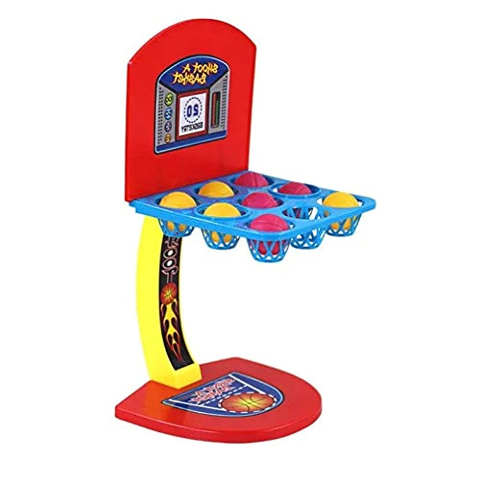 運営基本的な解任バスケット ゴール セット バスケットボールは、マシン1戦以上のプレイヤーのゲーム子供のおもちゃを撮影します 屋内と屋外のスポーツおもちゃ (色 : 赤, Size : One size)