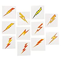 (216) - Lightning Bolt Tattoos Easy to Apply & Remove and Non-toxic (216 Pack)