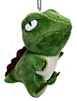 Lucore Green Dinosaur Plush Stuffed Animal Toy - Hanging Doll Lucky Charm Keychain by Lucore Home [並行輸入品]