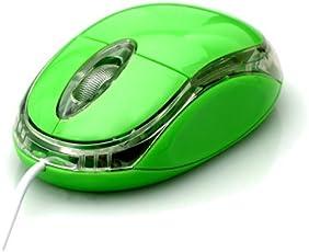 タイムリー オーピーマウス  グリーン USB接続 PS/2変換アダプタ付 2ボタン1スクロール OP-MOUSE-GR