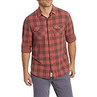 Flag & Anthem Men's Double Layer Plaid Long Sleeve Button Down Shirt