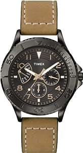 [タイメックス]TIMEX 【Amazon.co.jp限定】 カレイドスコープ レトログラード ブラックダイアル オイルドレザーベルト T2P040 メンズ 【正規輸入品】