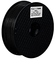 OSKE PLA 3Dプリンター用フィラメント素材 マテリアルPLA樹脂材料 1.75mm径 正味量1KG(2.2LB) 精確度+/- 0.03mm だいぶの3Dプリンターと3Dプリントペンが適用 (黒/ブラック)