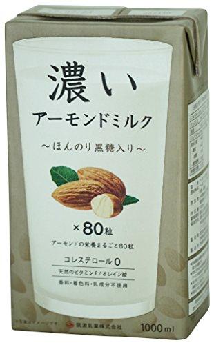 筑波乳業 濃いアーモンドミルク1000ml (ほんのり黒糖入り)