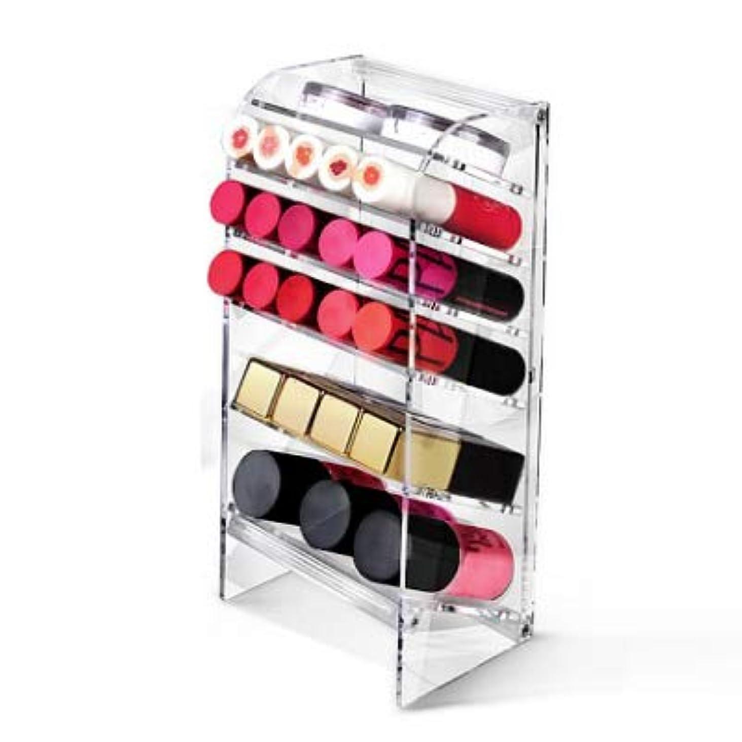 熱ライラックベテランATIC Acrylic アクリル DIY 透明 コスメケース メイクケース メイクボックス 化粧品 入れ コスメ リップスティック 収納 スタンド/Organizer storage For lipstick make-up...