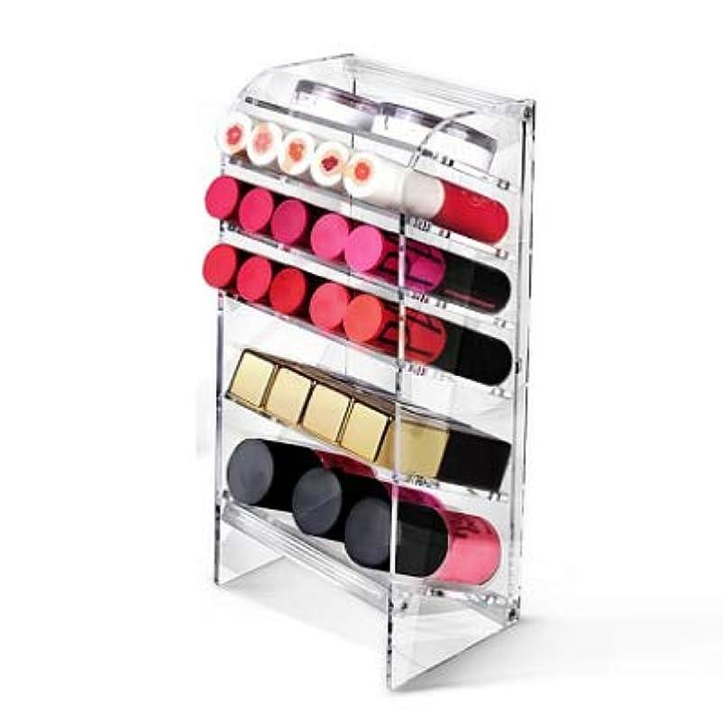 スティーブンソン船飢饉ATIC Acrylic アクリル DIY 透明 コスメケース メイクケース メイクボックス 化粧品 入れ コスメ リップスティック 収納 スタンド/Organizer storage For lipstick make-up [並行輸入品] (TOWER S)