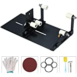 Honeytecs Glass Bottle Cutter Cutting Tool Upgrade Version Square and Round Wine Beer Glass Sculptures Cutter for DIY Glass Cutting Machine Metal Pad Bottle Holder With Cutting Accessories