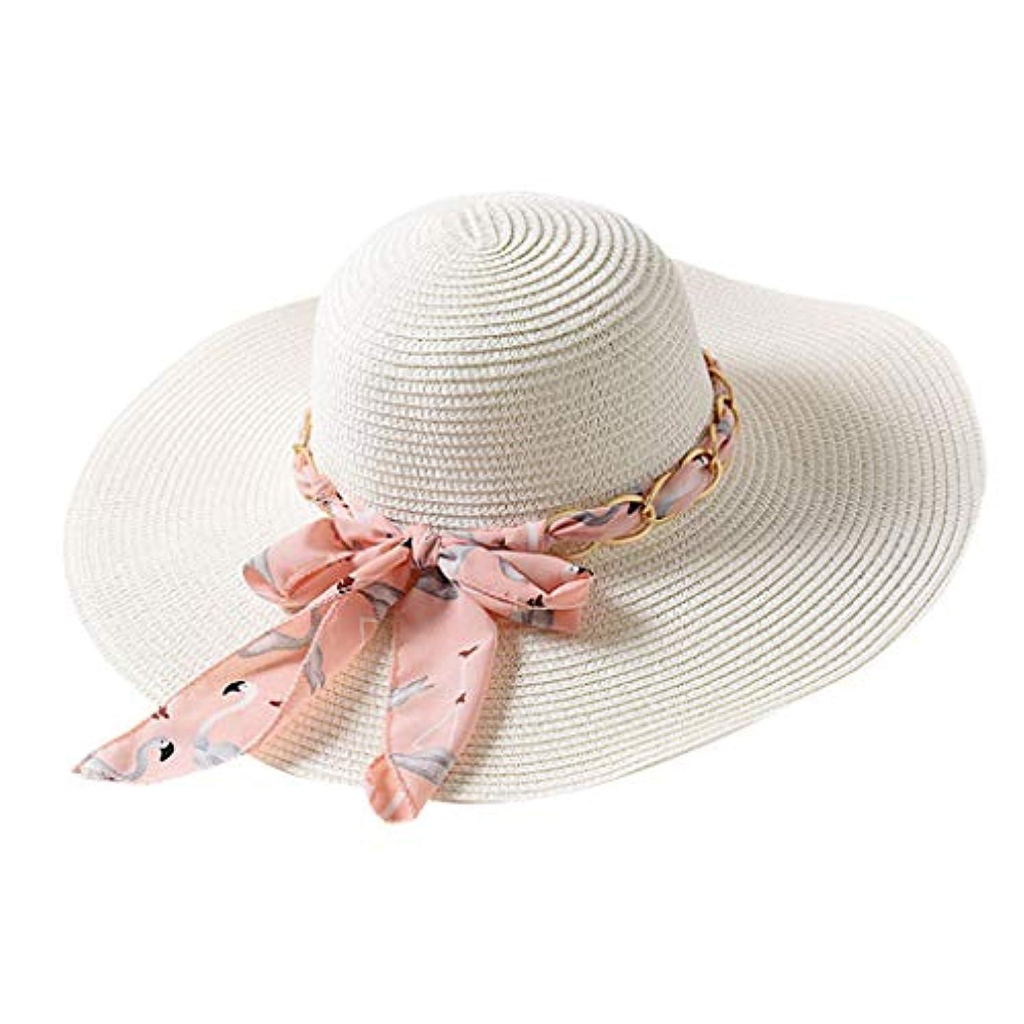 名誉視力推進ファッション小物 夏 帽子 レディース UVカット 帽子 ハット レディース 紫外線対策 日焼け防止 取り外すあご紐 つば広 おしゃれ 可愛い 夏季 折りたたみ サイズ調節可 旅行 女優帽 小顔効果抜群 ROSE ROMAN