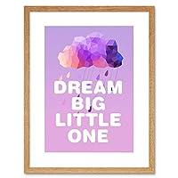 Dream Big Little One Kids Framed Wall Art Print リトル子供たち壁