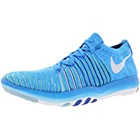 Nike Women's WMNS Free Transform Flyknit, Blue Glow/White-DEEP Royal Blue-Racer Blue