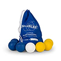 Standard 7 ball Yellow & Blue totable small family & friends Set.