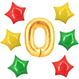 アドワン 数字 風船 バルーン 飾り付け 誕生日 ゴールド 大きい 数字1~9 文字 記念日 お祝い (0)