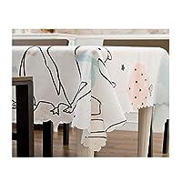 KYK テーブルクロス、スクエアテーブルクロス、ダイニングテーブル、お祝いのディナーに適しています。ホームSupplie。サイズ:28 * 28インチ、48 * 48インチ、56 * 56インチ。カラー:ベージュ、ブルー、グリーン、ホワイト テーブルクロス (Color : White, Size : 28*28 inch)
