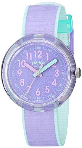 [フリック フラック] キッズ腕時計 FPNP044 ガールズ 正規輸入品 パープル