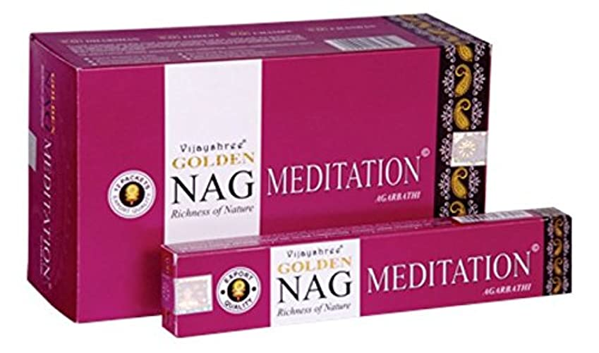 説得力のある毒性魔女Vijayshree Golden瞑想Agarbathi Incense Sticks – 15 gm each-12パケット