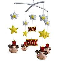 幼児ミュージカルモバイル、[スター、サーカス、サル]育児モバイル、ベビーモバイル