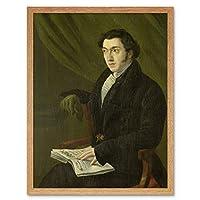 Hendrik Winter Portrait Schouberg Stamp Engraver Art Print Framed Poster Wall Decor 12x16 inch 冬肖像画切手ポスター壁デコ