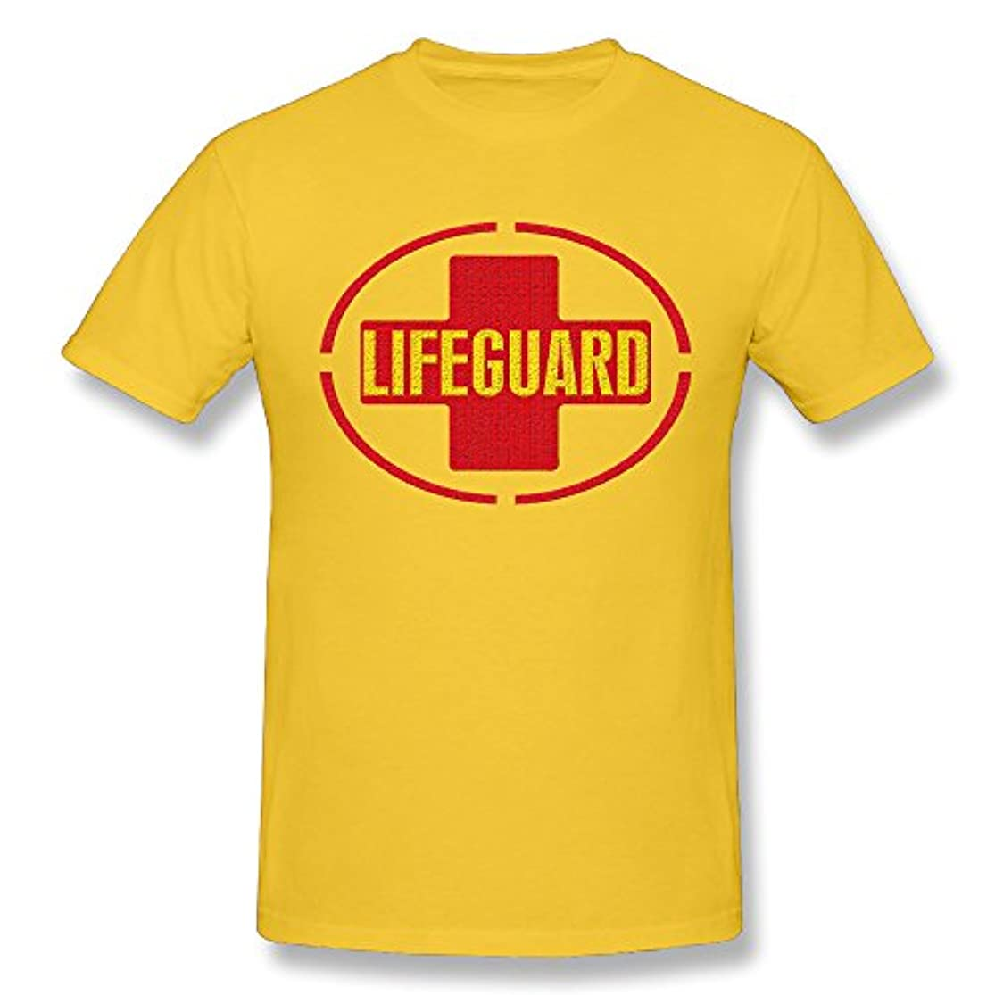 のれんコットン逆にAllen Mee ライフガード Lifeguard 安全 綿 半袖 Tシャツ メンズ Tシャツ カジュアル 速乾 Black