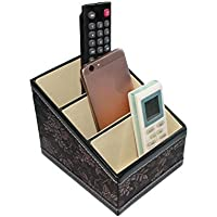WTL かご?バスケット 革の収納ボックスの家のデスクトップの破片の収納ボックス (色 : ブラック, サイズ さいず : 16*13*13.5cm)