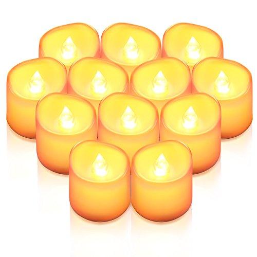 AMIR LED キャンドルライト LEDキャンドル ろうそく 癒しの灯り 揺らぐ炎 リアル感 火を使わない 安全 省エネ 長持ち 便利 おしゃれ クリスマス 結婚式 誕生日 室内 室外飾り インテリアライト (イエロー)