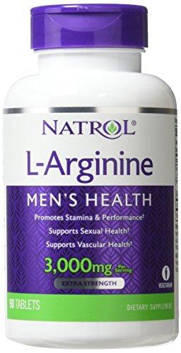 Natrol - L-アルギニン 3000 mg であります。90錠剤