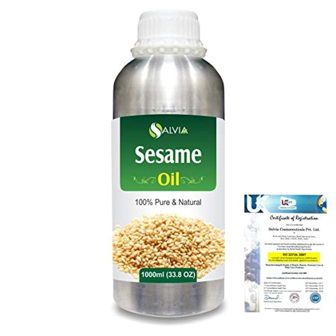 ダメージ革命地上でSesame (Sesamum Indicum) 100% Natural Pure Undiluted Uncut Carrier Oil 1000ml/33.8 fl.oz.