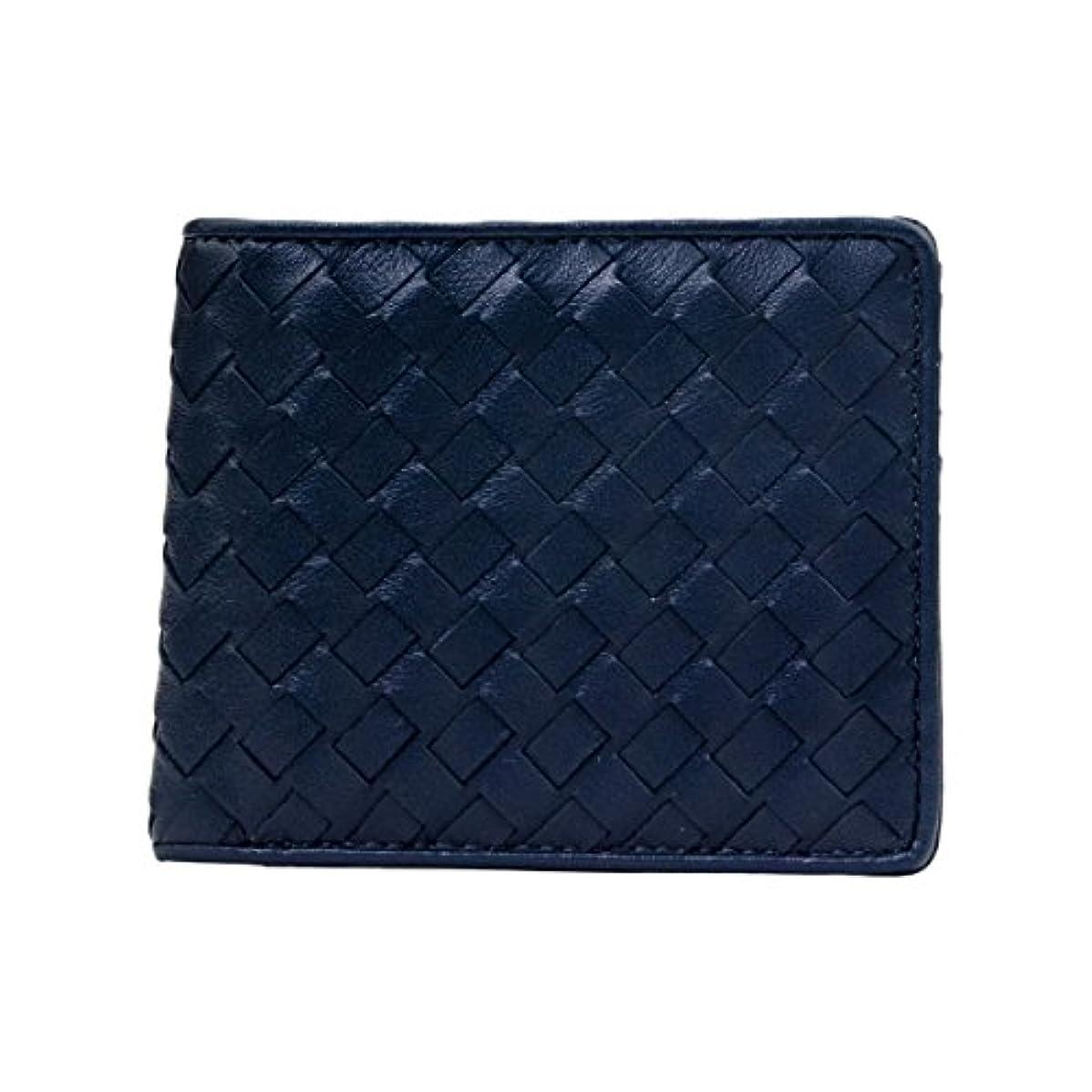 ビジョン練習該当する[ルッソ] LUSSO 二つ折り 財布 本革 ラムレザー イントレチャート 財布 ウォレット