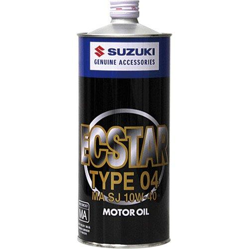 SUZUKI/スズキ純正 ECSTAR TYPE 04 エクスタータイプ04 MA/SJ 10W-40 1L エンジンオイル 純正品番:99000-21B30-016